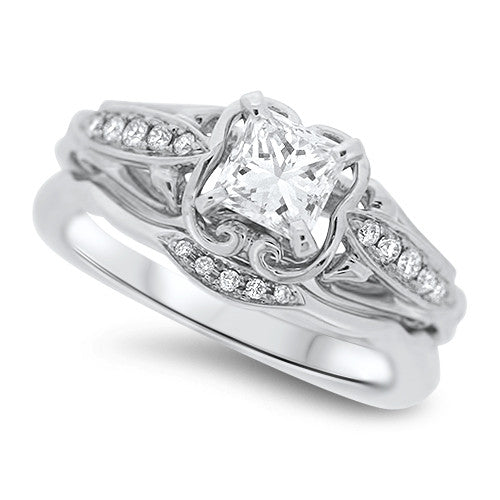 Detailed Diamond Wedding Ring