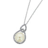 Drop Halo Pearl Pendant