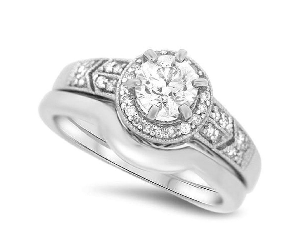 Heirloom Look Diamond Wedding Set