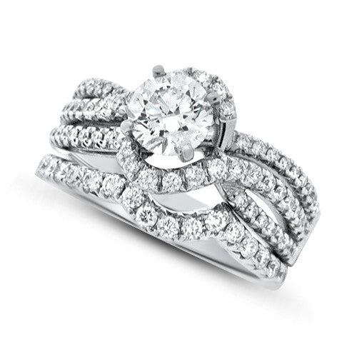 Woven Appeal Diamond Wedding Set