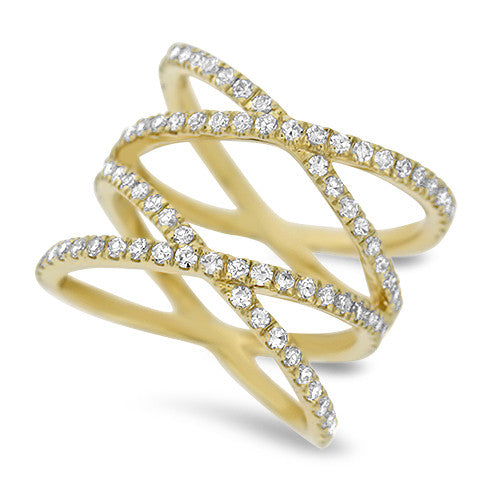 Criss-Cross Diamond Fashion Ring