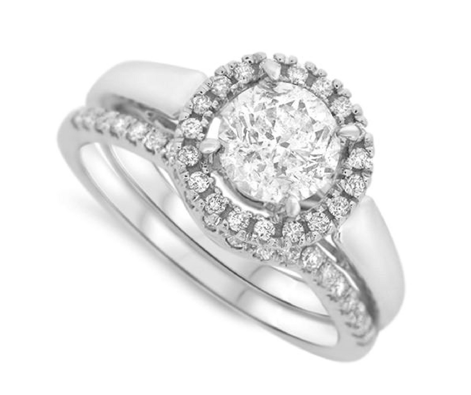 Halo Set Diamond Wedding Set