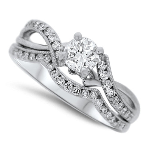 Woven Diamond Wedding Set