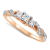 Rose Gold Twist Diamond Ring