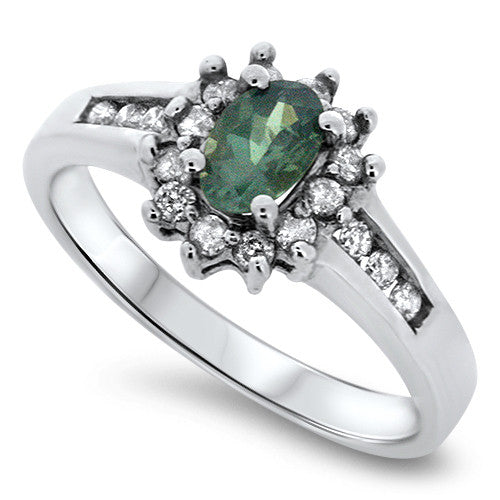 Classic Alexanderite & Diamond Ring