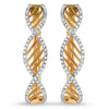 Diamond and Rose Gold Twist Earrings