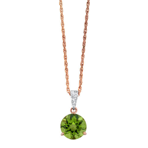 Rose Gold and Peridot Pendant