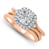 Rose Gold 1.22cttw Diamond Wedding Set