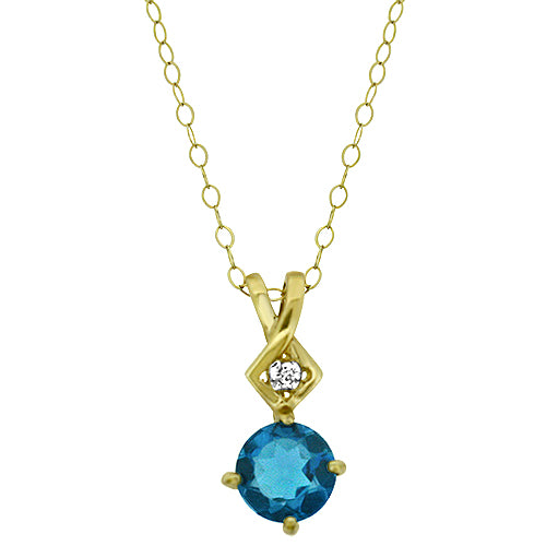 London Blue Topaz Pendant