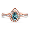 Blue Diamond Pear Diamond Ring