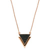 Black Diamond Rose Gold Triangle Necklace