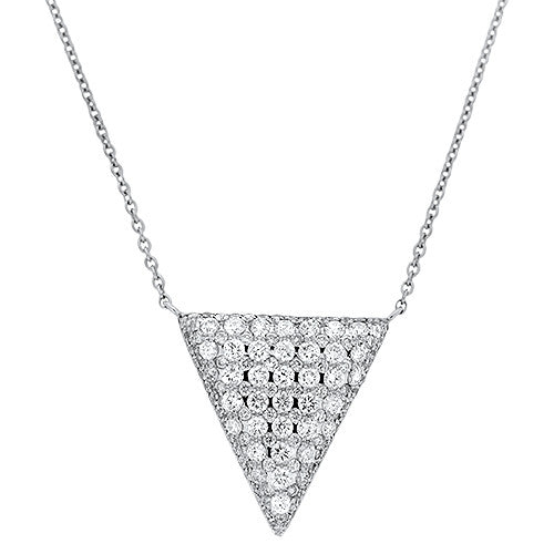 White Gold and Diamond Necklace
