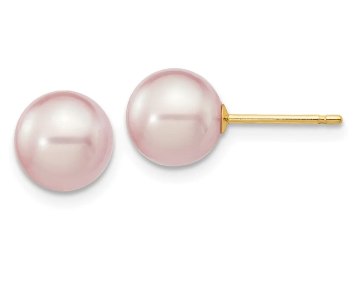Freshwater Cultured Blush Pearl Earrings