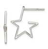 Sterling Silver Half Hoop Star Earrings