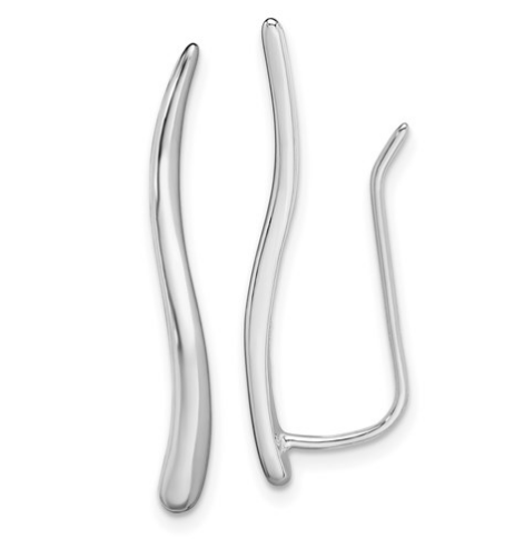 Sterling Silver Simple Earring Crawlers