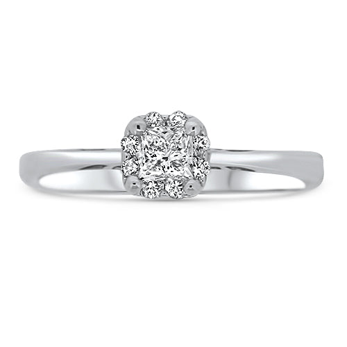 .33CTTW Diamond Solitaire Ring