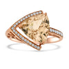 3.01ct Dazzling Morganite Rose Gold Ring