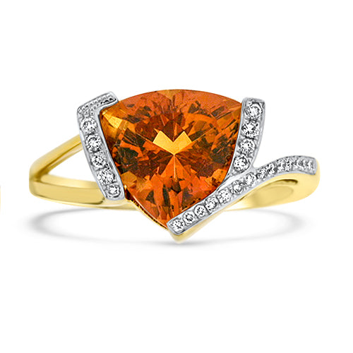 2.99ct Center Graceful Citrine Ring
