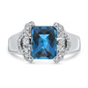2.62CT Blue Topaz Ring