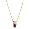 Posh Ruby and Diamond Pendant