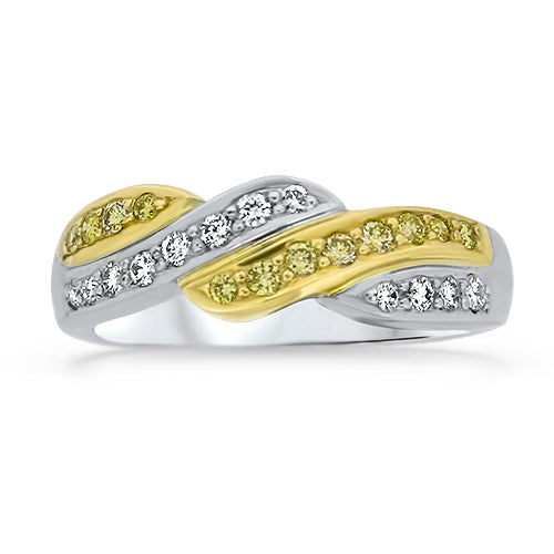 .33CTTW Curvy Diamond Ring