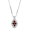 Charming .87CT Ruby and Diamond Pendant