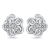 1/4CTTW Petite Diamond Flower Earrings