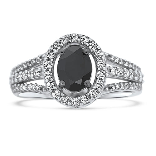 1.50CTTW Dark as Night Diamond Ring