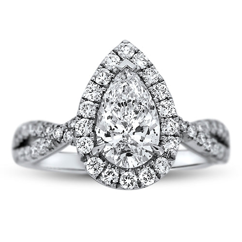 1.20CTR Pear Shaped Diamond Engagement Ring