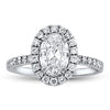 1.20ct Center Oval Diamond Engagement Ring