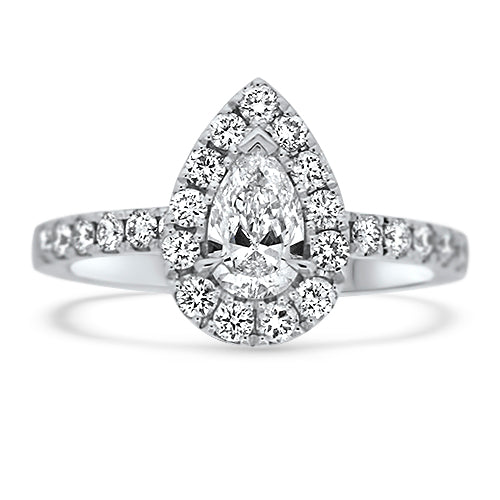 1.00CTR Pear Shaped Diamond Engagement Ring