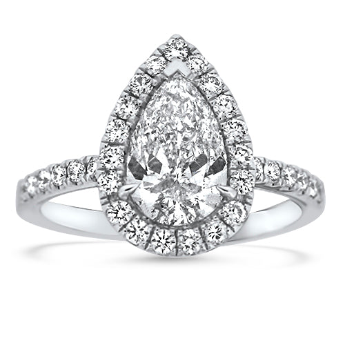 1.50CTR Pear Shaped Engagement Ring