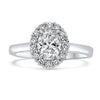 1.01CTR Oval Diamond Engagement Ring