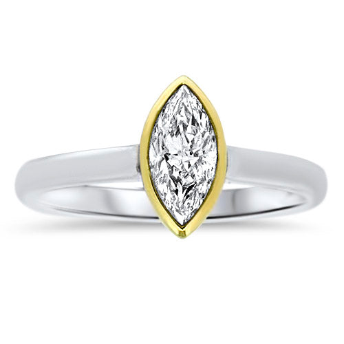 .58CTTW Marquise-Cut Diamond Ring