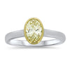 .74CTTW Oval-Cut Yellow Diamond Ring