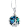 Blue Sea Opal Sterling Silver Pendant