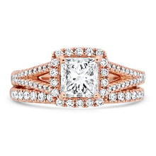 Load image into Gallery viewer, Rose Gold Diamond Wedding Set