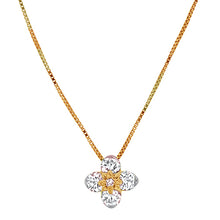 Load image into Gallery viewer, Rose Gold Flower Diamond Pendant