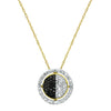 Black & White Gold Diamond Pendant
