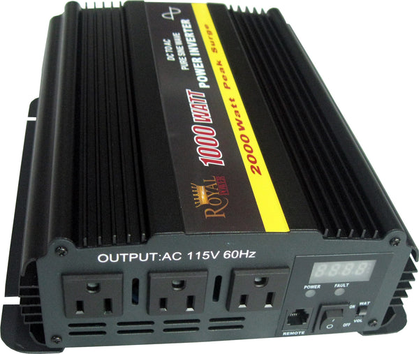 Pure Sine 1000 Watt Power Inverter 12 Dc To 120 Ac Volt