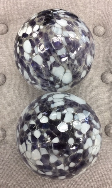 Purple and White Large Spheres