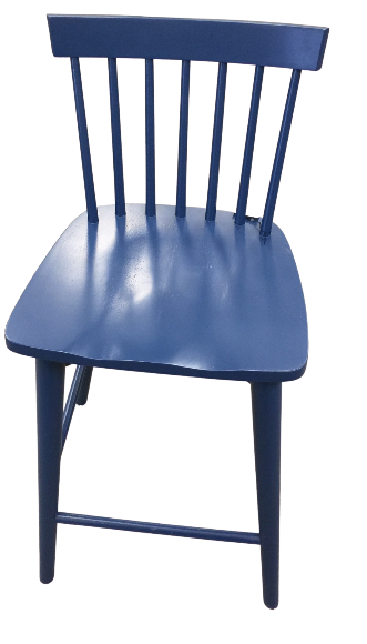 Blue Wooden Counter Stool