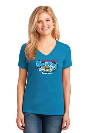 Carmichael Beavers Ladies Short Sleeve V-Neck