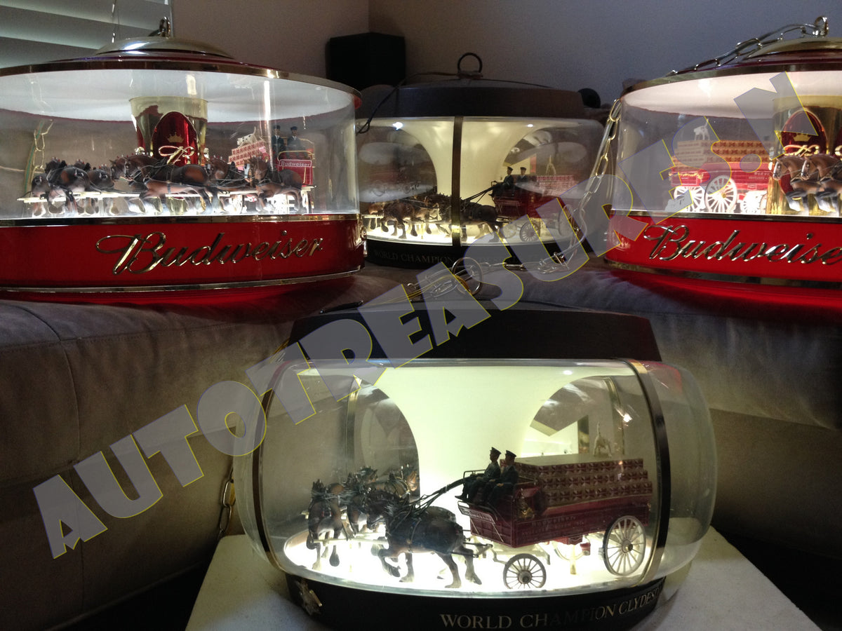 B Auto Parts >> Budweiser Clydesdale Parade Carousel Globe Lamp Parts – Memories In The Attic