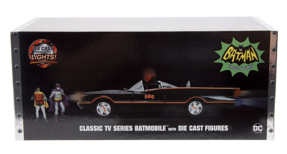 George Barris 1966 TV Series Style Die-cast Batmobile With Die-Cast Batman & Robin Figures
