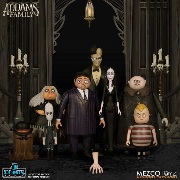 Mezco Toyz The Adam's Family Compete Set 5 Points 12 Figures