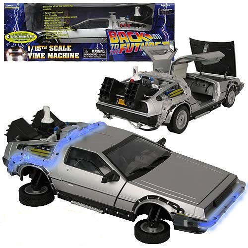 Back To The Future 1:15 Scale Electronic Delorean Sound Lights Wheels Hover Frozen  Time Machine Car