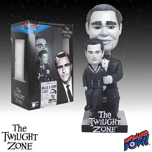 The Twilight Zone Willie And Jerry  Bobble Head Bif Bang Pow Bobblehead Nodder 1962 Puppeteer Wobbler