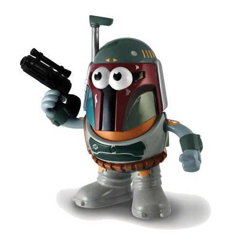 Star Wars Boba Fett Mr Potato Head Poptaters Disney Action Figure Rifle Jet Pack PPW Toys