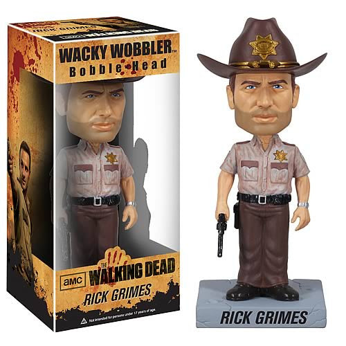 Funko The Walking Dead Rick Grimes Sheriff Collectible Bobblehead Wacky Bobble Nodder